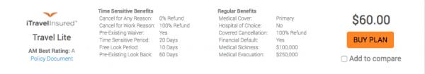 Disney Cruise Travel Insurance - iTI Lite $60 | AardvarkCompare.com