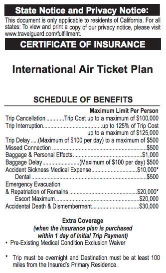 Spirit Travel Insurance - $32 International Air Ticket Plan Benefits | AardvarkCompare.com