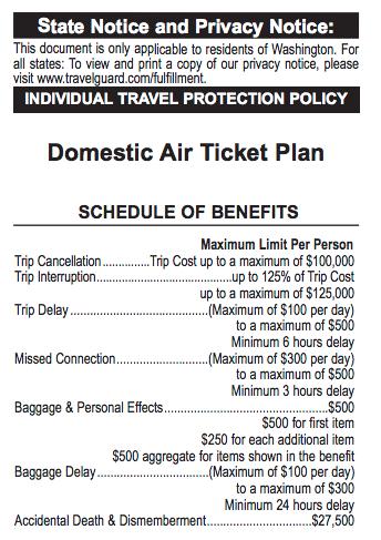 Spirit Travel Insurance - $26 Domestic Air Ticket Plan Benefits | AardvarkCompare.com
