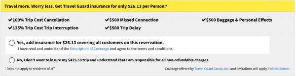 Spirit Travel Insurance - $26 Domestic Travel Guard Option | AardvarkCompare.com