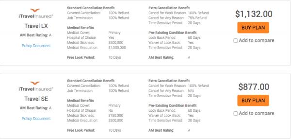 USAA Travel Insurance - $10k 2 pax iTI | AardvarkCompare.com