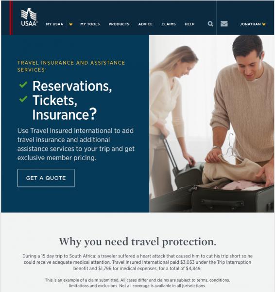 USAA Travel Insurance - TII | AardvarkCompare.com