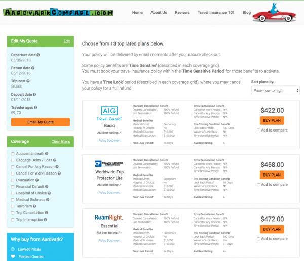 United Healthcare Travel Insurance - Aardvark Cheapest Options | AardvarkCompare.com