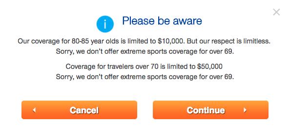 United Healthcare Travel Insurance - $10k Medical Cover over 80 | AardvarkCompare.com