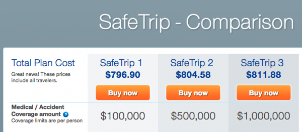 United Healthcare Travel Insurance - Quote Result | AardvarkCompare.com