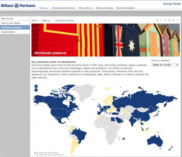 Allianz Global Assistance - Worldwide Presence | AardvarkCompare.com