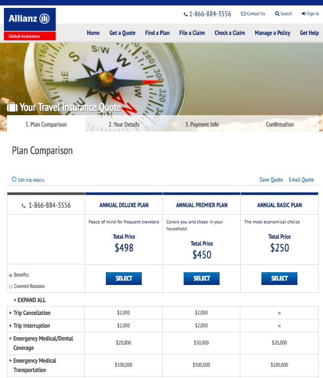 Allianz-Annual-Travel-Insurance-Plan-Prices | AardvarkCompare.com