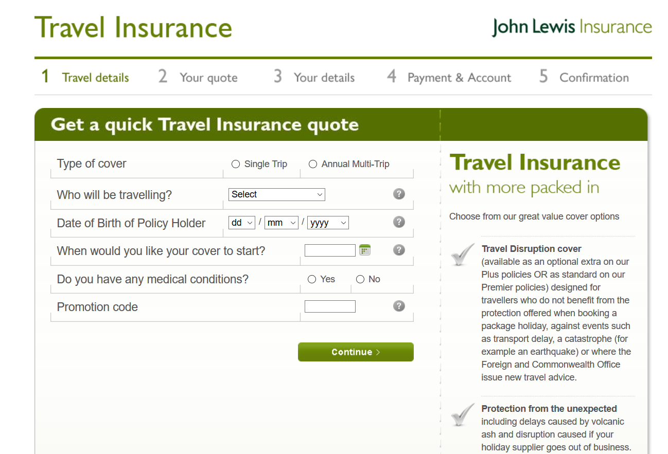 John-Lewis-Travel-Insurance Quick Quote | AardvarkCompare.com