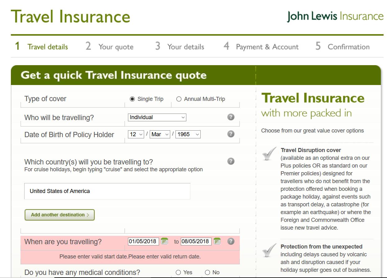 John-Lewis-Travel-Insurance Quick Quote 2 | AardvarkCompare.com