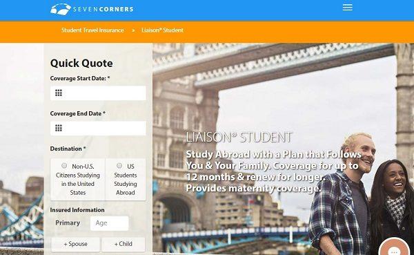 Liaison-Student-Travel-Medical-Insurance-Seven-Corners | AardvarkCompare.com