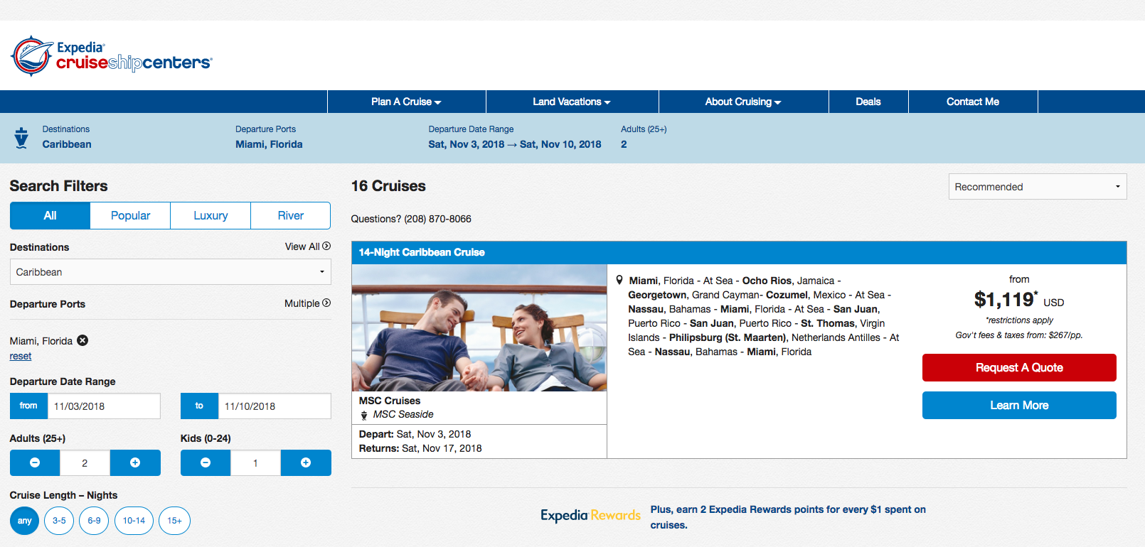 Expedia-CruiseShipCenters-Travel-Insurance-Search | AardvarkCompare.com