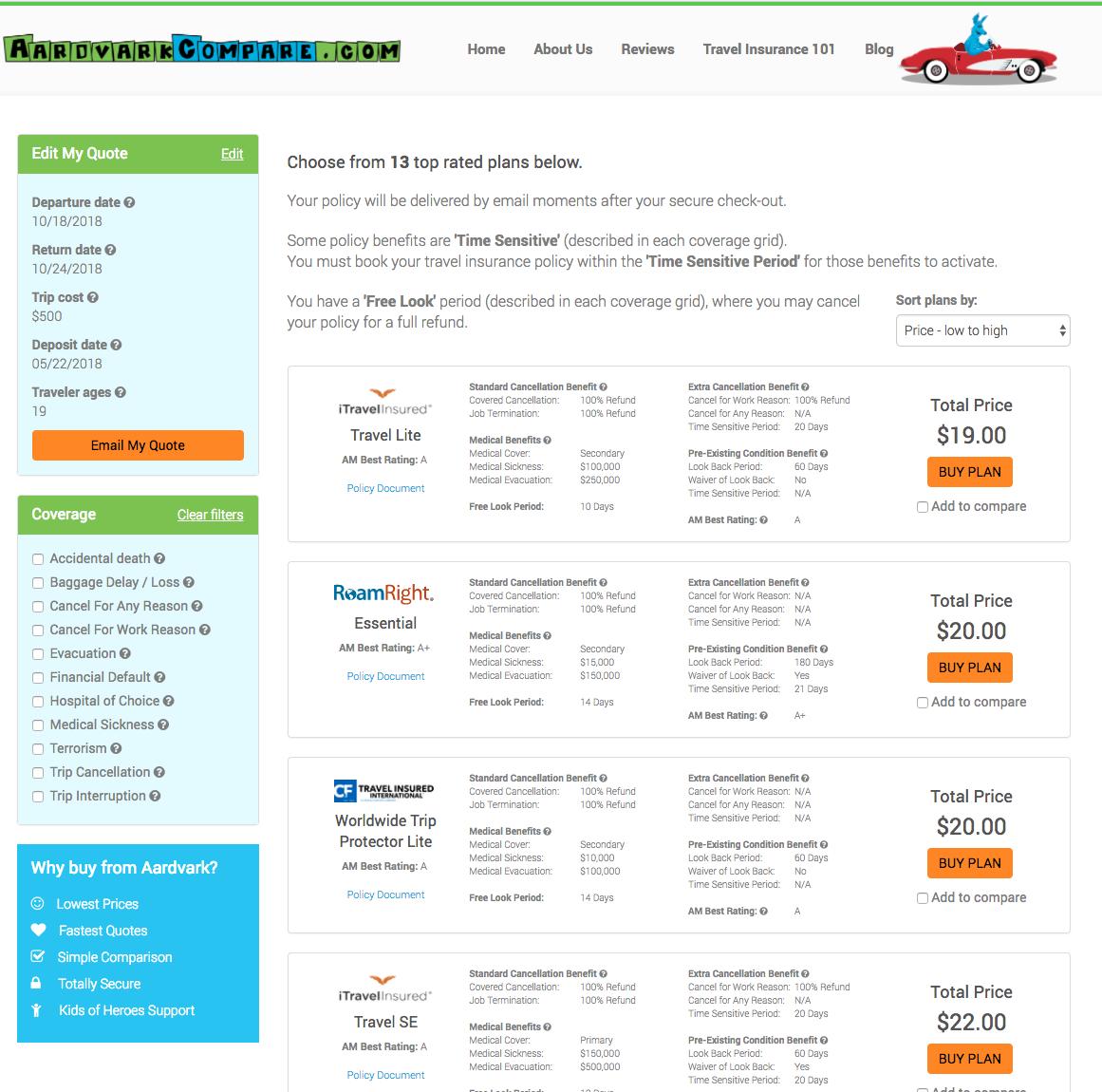Teen-Travel-Insurance-AardvarkCompare-Options | AardvarkCompare.com