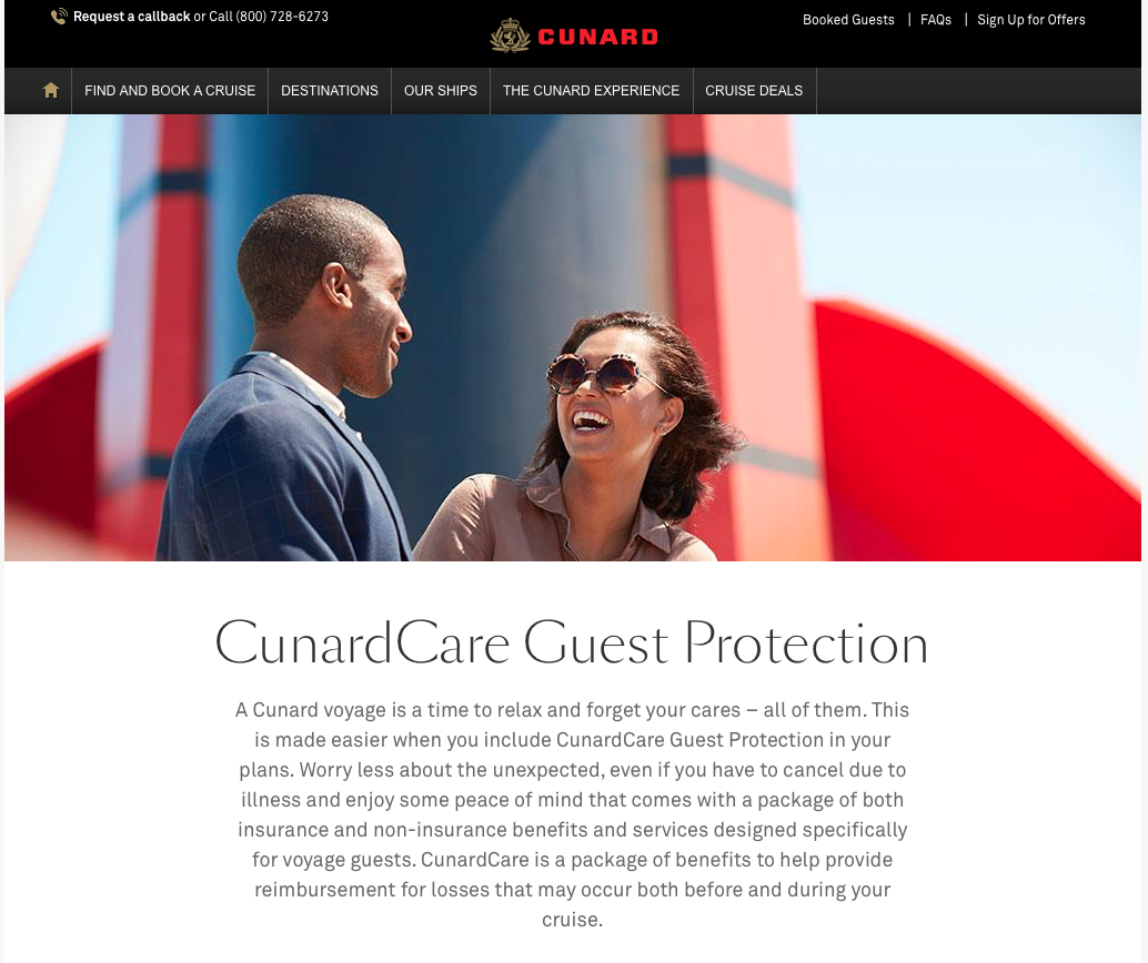 Cunard-Cruise-Line-Travel-Insurance-CunardCare-Guest-Protection | AardvarkCompare.com