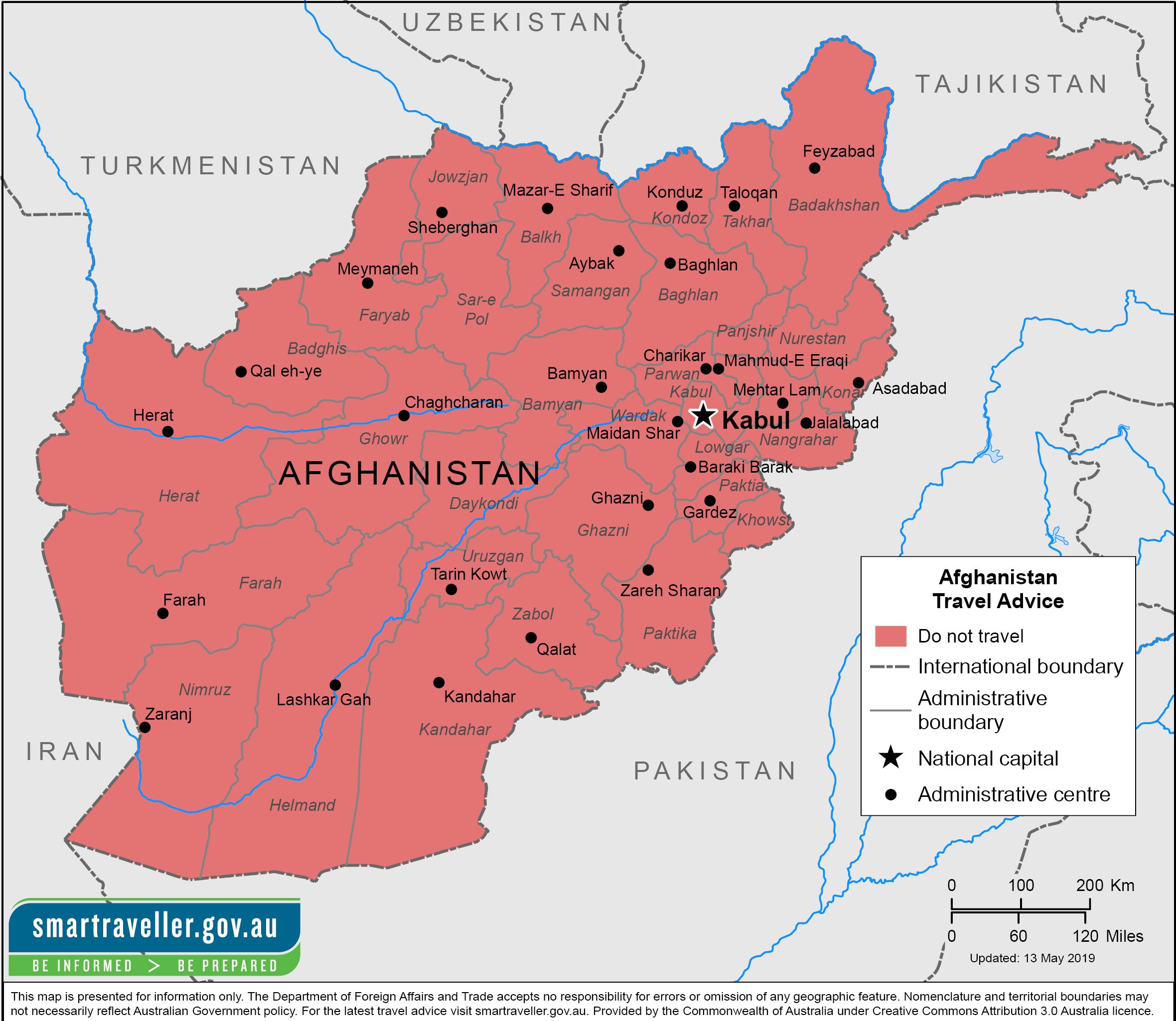 Afghanistan Traveler Information - Travel Advice