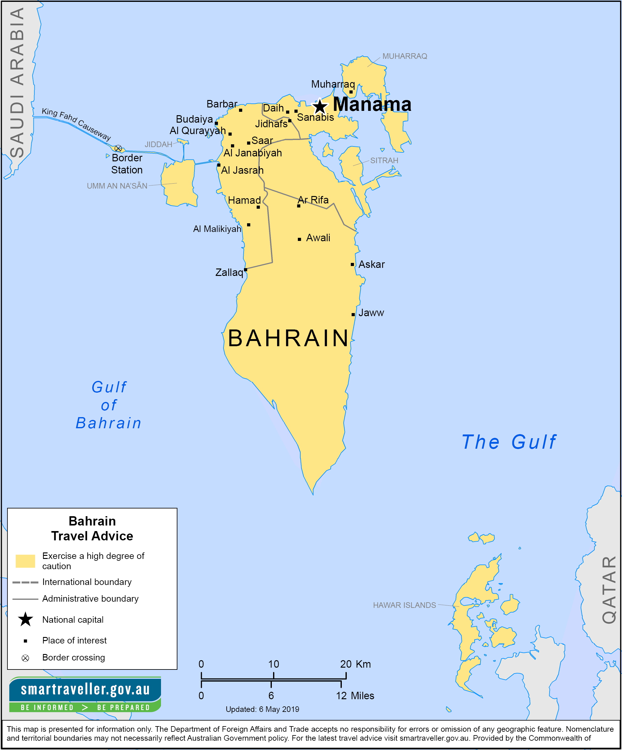 Bahrain Traveler Information - Travel Advice