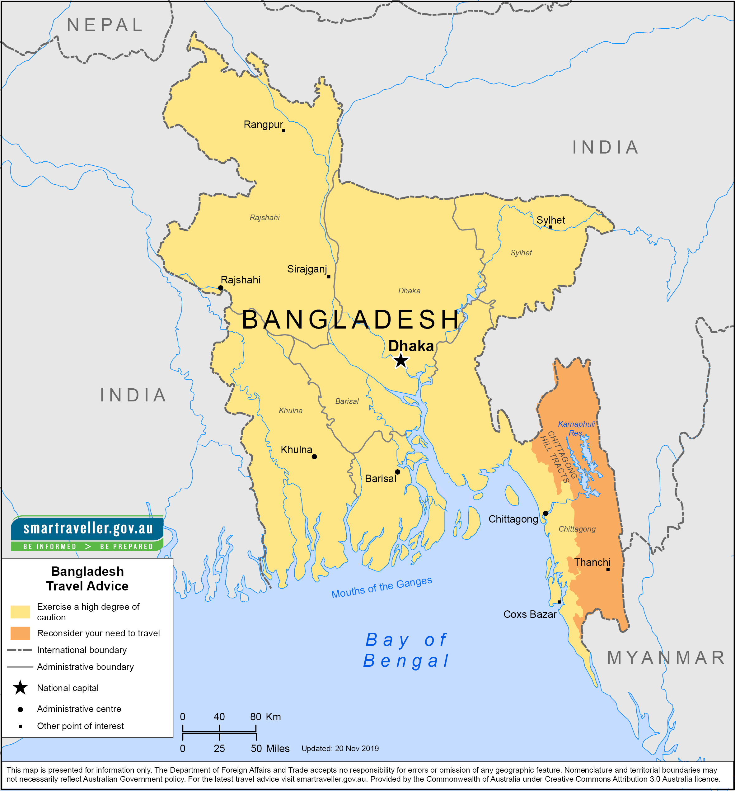 Bangladesh Traveler Information - Travel Advice
