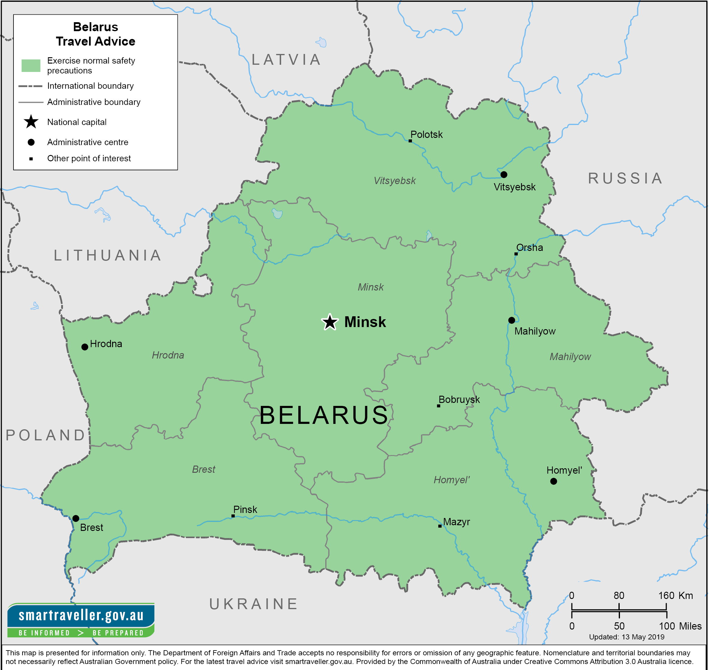 Belarus Traveler Information - Travel Advice
