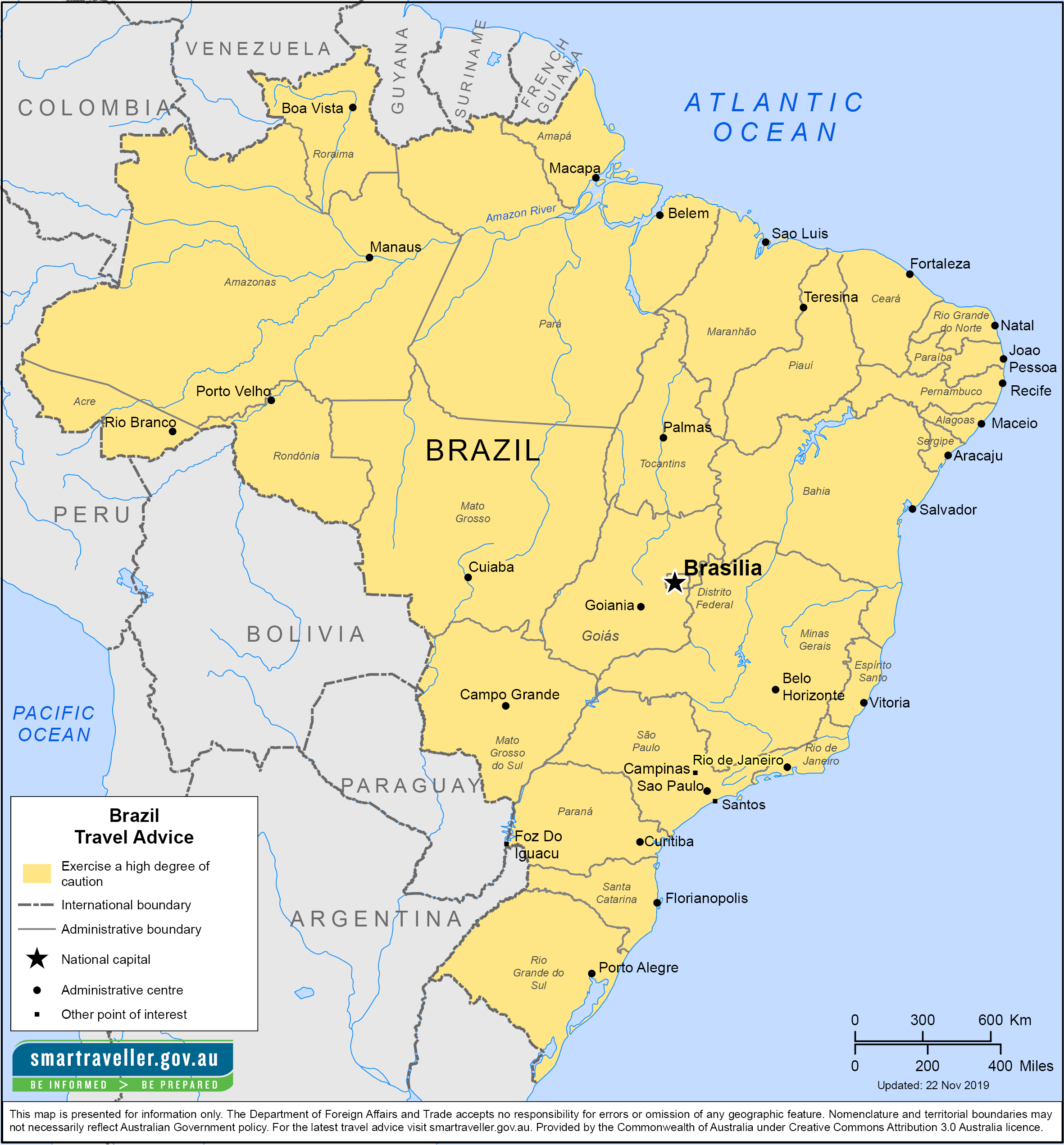 Brazil Traveler Information - Travel Advice